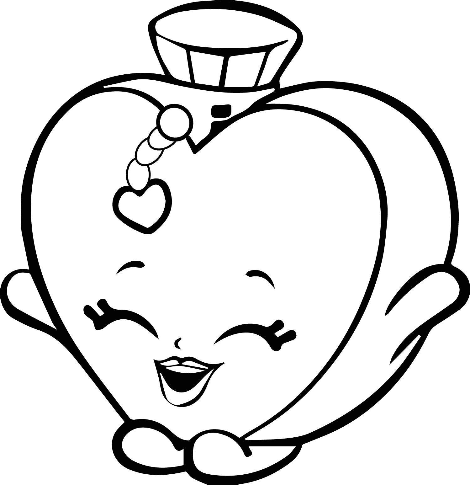 Click to see printable version of Heart Shopkin Coloring page