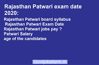 Rajasthan Patwari exam