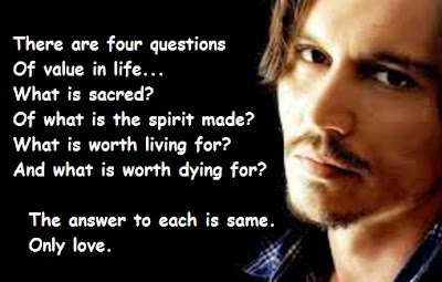"""Johnny Depp Quotes About Value in Life"""