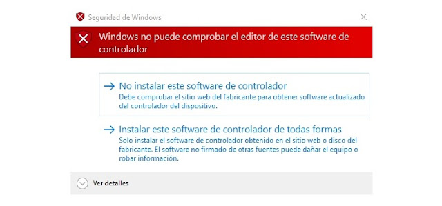 Windows no puedes comprobar el editor de este software