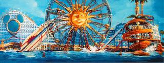 Paradise Pier Sun Wheel Concept Art Disney California Adventure