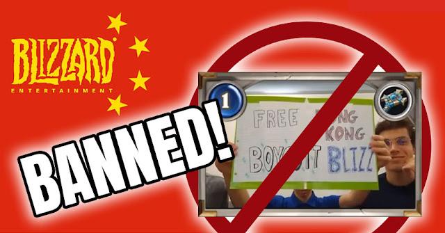 Blizzard banea a equipo estadounidense por las protestas políticas de Hong Kong.