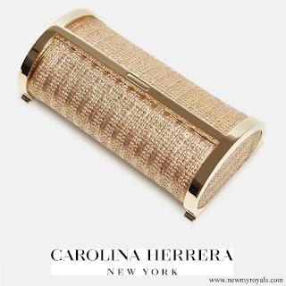 Queen Letizia carried CH Carolina Herrera Clutch