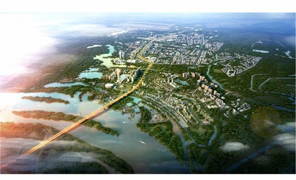 Phối cảnh khu đô thị mới dọc tuyến đường Nhật Tân - Nội Bài