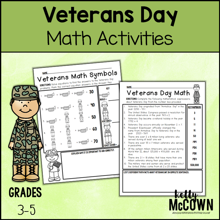 Kelly McCown: Veterans Day Math Activities