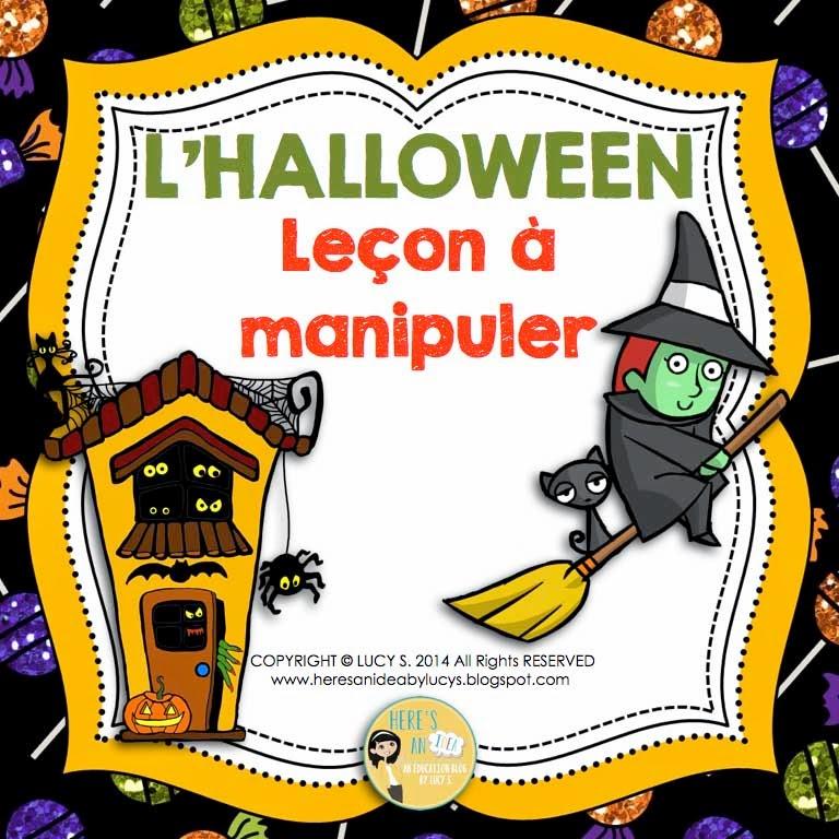 French Halloween Lapbook - Interactive Notebook Activities