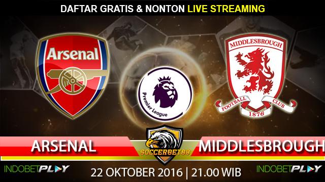 Prediksi Arsenal vs Middlesbrough 22 Oktober 2016 (Liga Inggris)