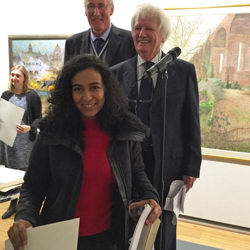 Ema Pina receives the £5,000 Brian Botting Prize