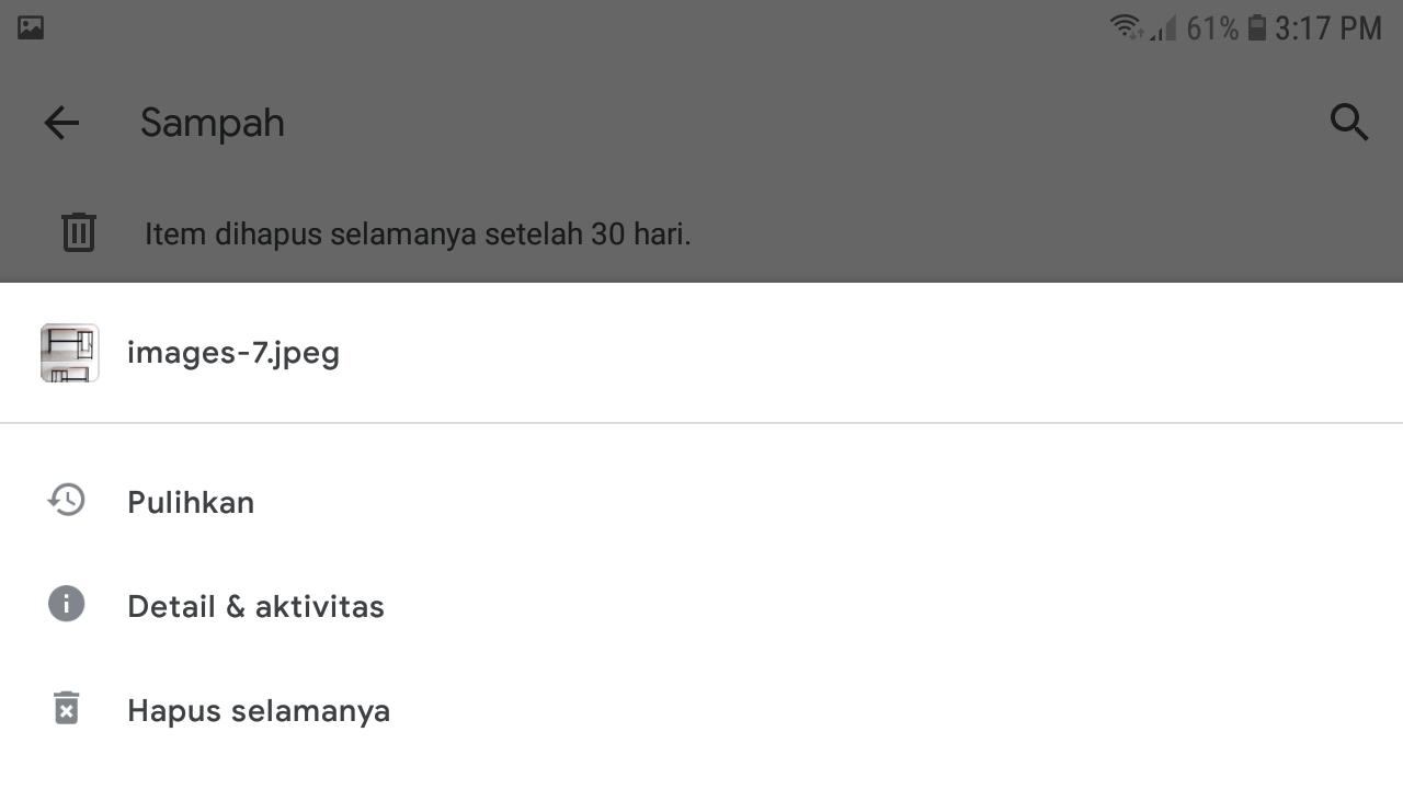 Menghapus File Permanen di Google Drive