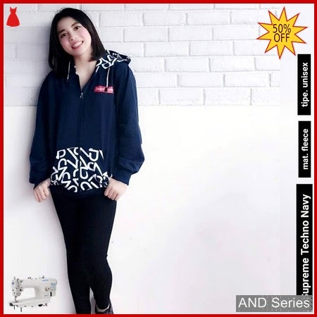 AND130 Jaket Wanita Jacket Supreme Biru Navy BMGShop