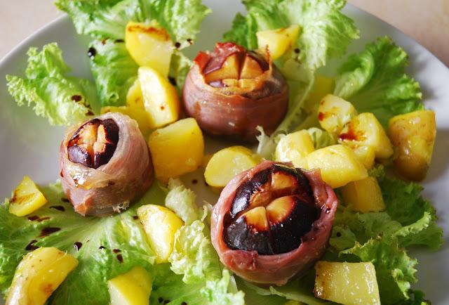 Figues rôties au jambon cru