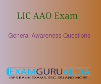 General Awareness Questions Asked in LIC AAO Exam