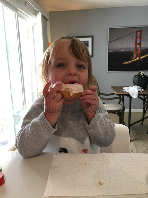 toddlers love donuts