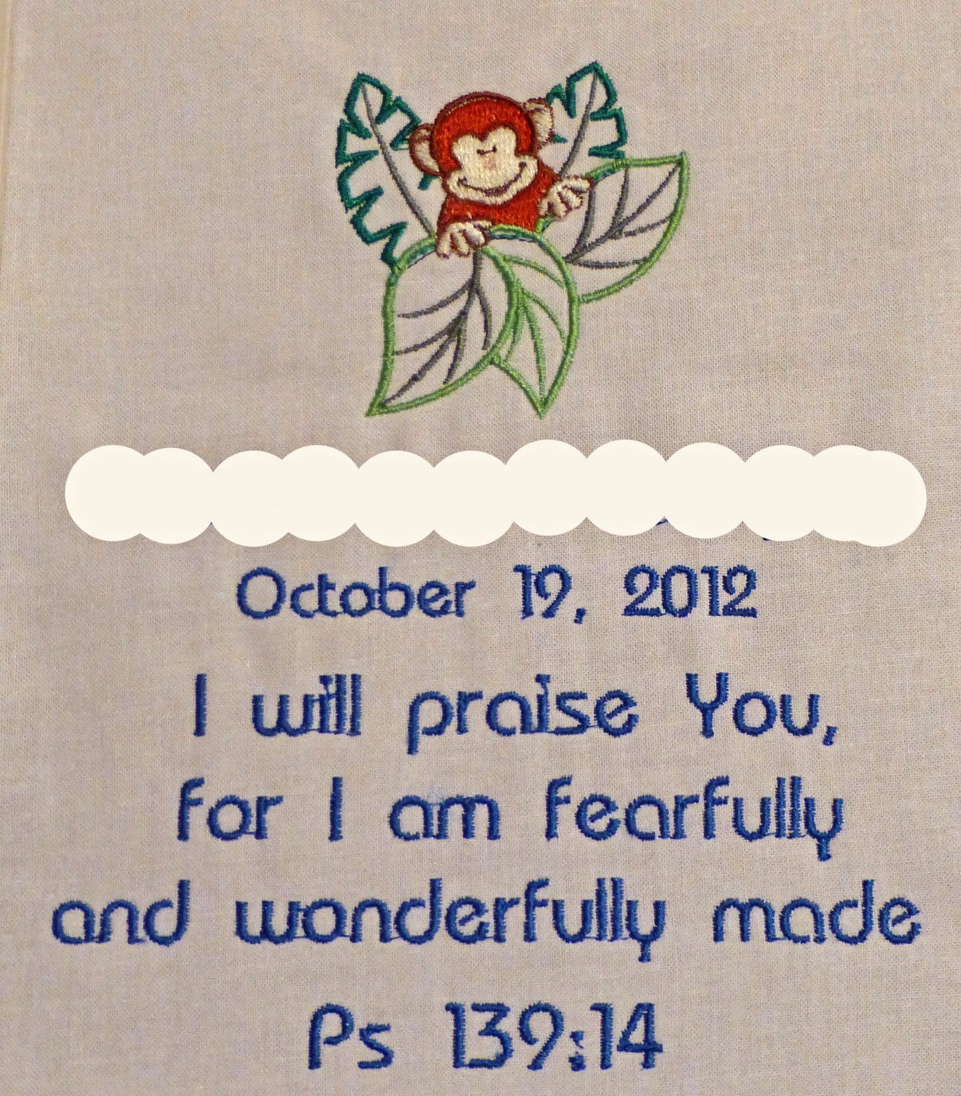 Then My Machine Stitched This One For A Dear Friend's Grandchild's Quilt:  How To Embroider