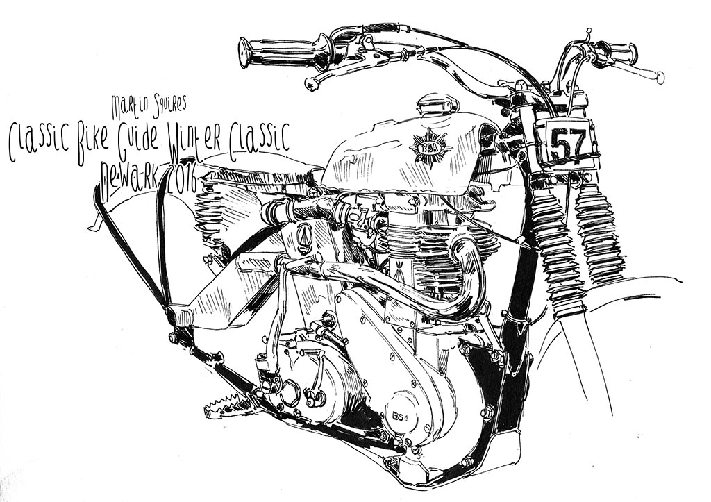 Martin Squires Automotive Illustration: Classic Bike Guide