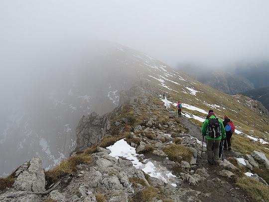 Zejście na Mułową Przełęcz.