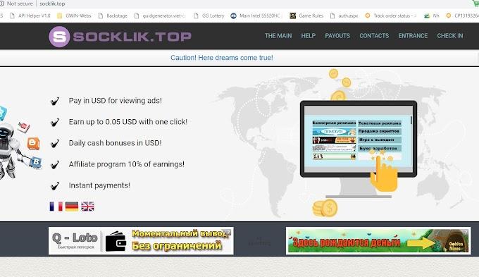 MMO - Hướng dẫn kiếm tiền từ click quảng cáo với website socklik - chính thức Scam (update)