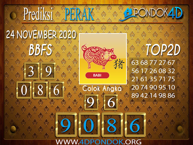 Prediksi Togel PERAK PONDOK4D 24 NOVEMBER 2020