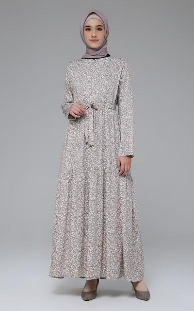 Long Dress Flower Motif
