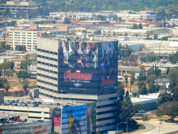 Giant Avengers Age of Ultron movie billboards 405