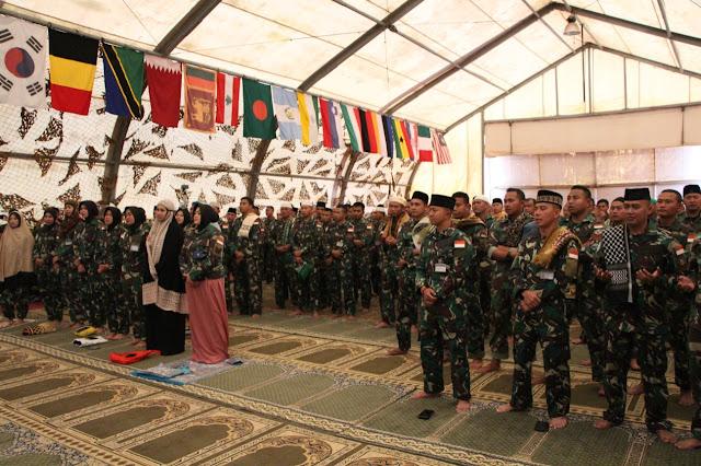 Satgas Yonmek TNI Konga XXIII-M/UNIFIL Peringati Maulid Nabi di Lebanon