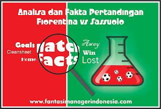 Analisa dan Fakta Menjelang Pertandingan Fiorentina vs Sassuolo fantasi manager indonesia