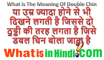 What is the meaning of Double Chin in Hindi
