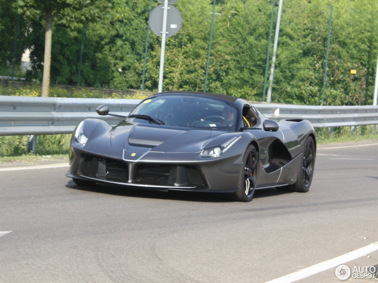 LaFerrari Aperta Spotted With Roof On Near Maranello