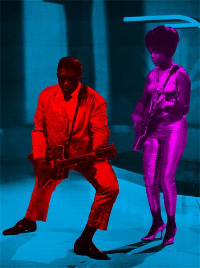 Bo Diddley vs Chuck Berry 1-BoDiddley-The-Duchess-1950sRock-RockSex-TymStevens