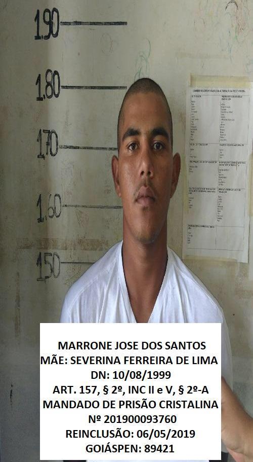 16 - Fuga em massa agora no Presídio de Cristalina. 19 presos. 61 9230-6834: LISTA DE FORAGIDOS