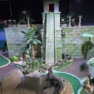 The Temple Ruins course at Paradise Island Adventure Golf
