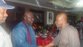 Photos: Governor Rochas Okorocha hosts Heartland Football Club players to a victory dinner