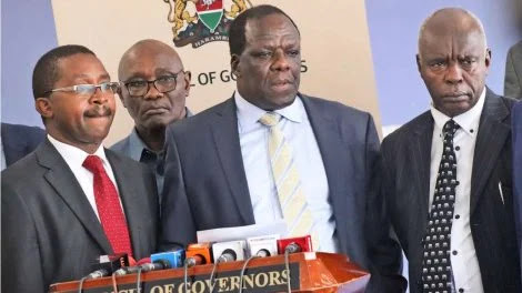 CoG Wycliffe Oparanya with other Governors