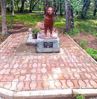 Памятник собаке Найде в Комсомольске-на-Амуре