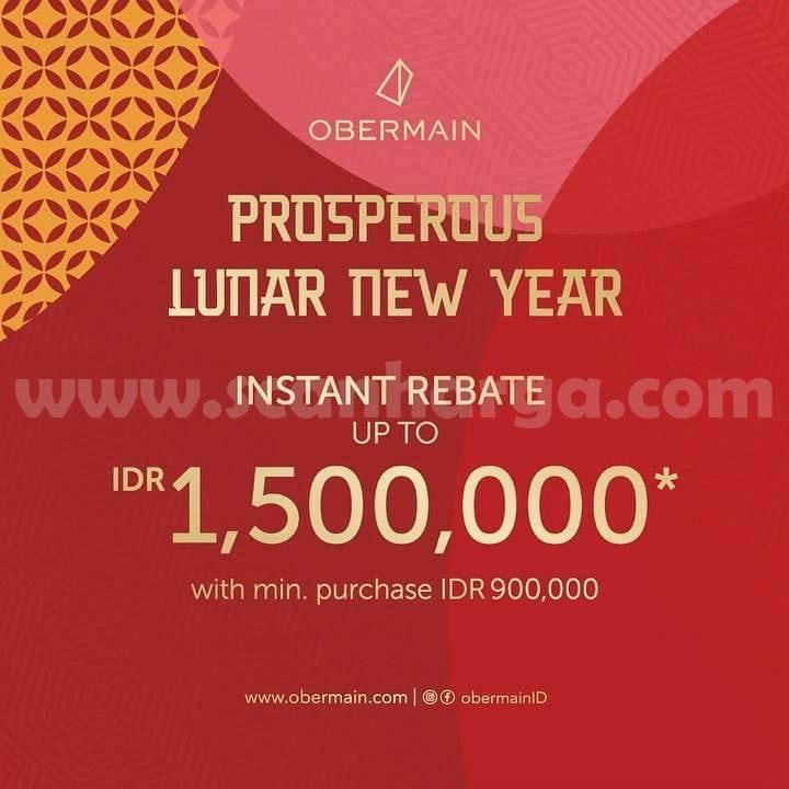 Obermain Lunar New Year Promo Instant Rebate Up To 1.500.000
