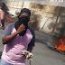 ENCAPUCHADOS ROMPEN NEGOCIOS INMEDIACIONES DEL CURSAN EN PROTESTA ASEUSANCRIS E HIEREN A PEDRADAS VARIOS POLICÍAS