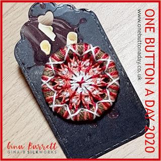 Day 229 : Mandala V - One Button a Day 2020 by Gina Barrett