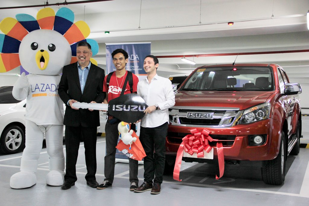 isuzu philippines awards winner of lazada s online revolution promo