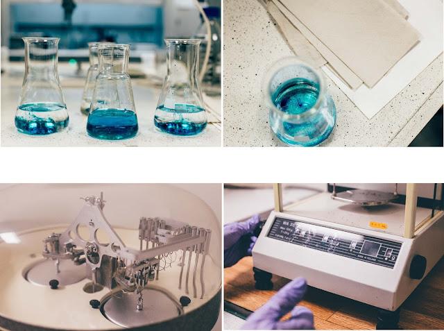 W laboratorium Katedry Chemii Krzemianów i Związków Wielkocząsteczkowych