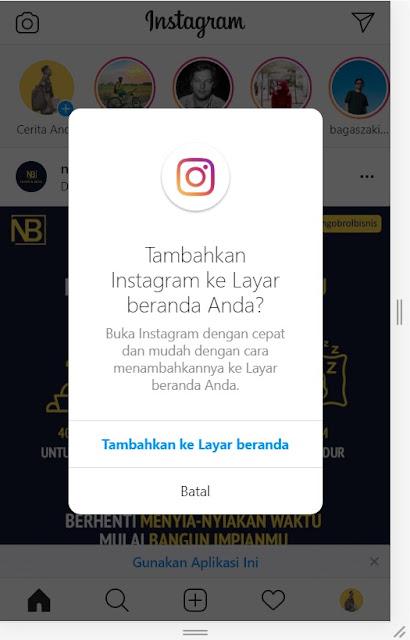 cara upload instagram lewat google chrome