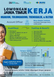 Lowongan Kerja Account Officer Micro Madani Institute November 2020