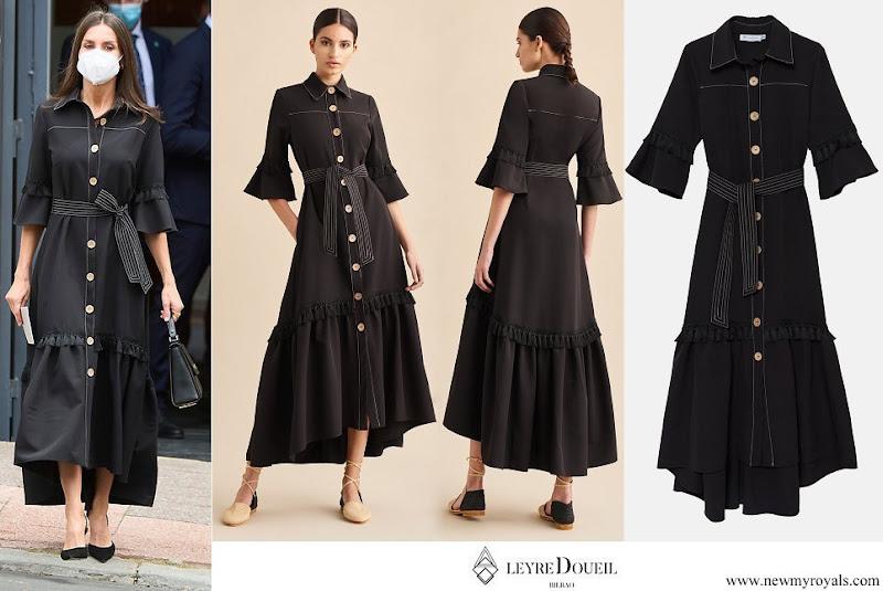 Queen Letizia wore Leyre Doueil Drago Dress