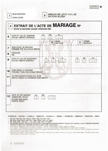 свадьба в черногории, свидетельство о браке в черногории