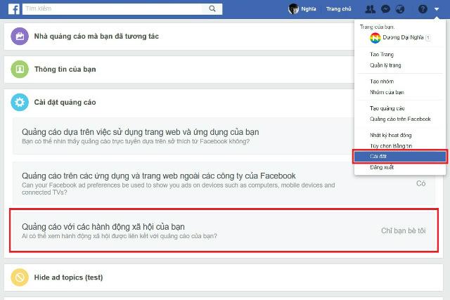 ẩn like và comment trên facebook 3