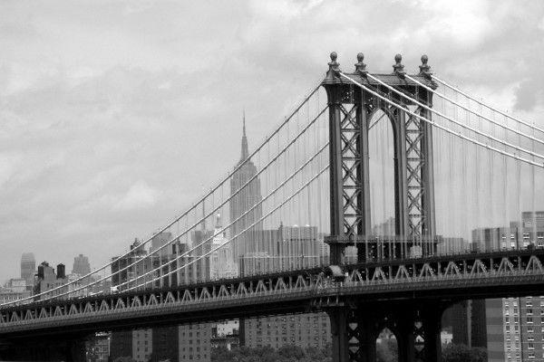 Llegando a la ciudad por el puente de Manhattan