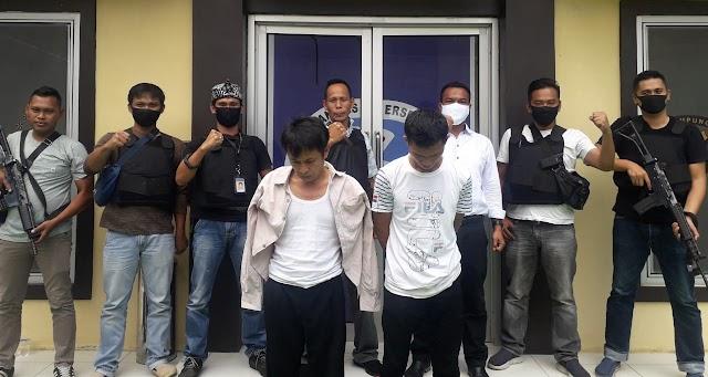 Satresnarkoba Polres Tanggamus Tangkap Dua Jaringan Peredaran Sabu di Kota Agung Barat