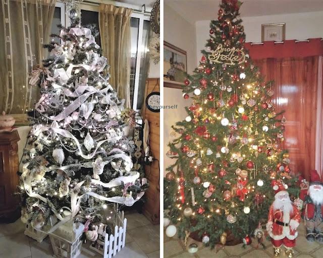 Alberi di Natale addobbati dagli amici del blog Around me storrie di viaggi