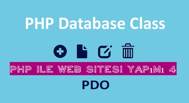 php,pdo ile web site yapımı