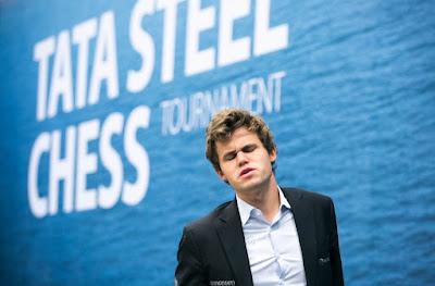 Magnus Carlsen en el Tata Steel Chess 2017 Foto: @phtoches
