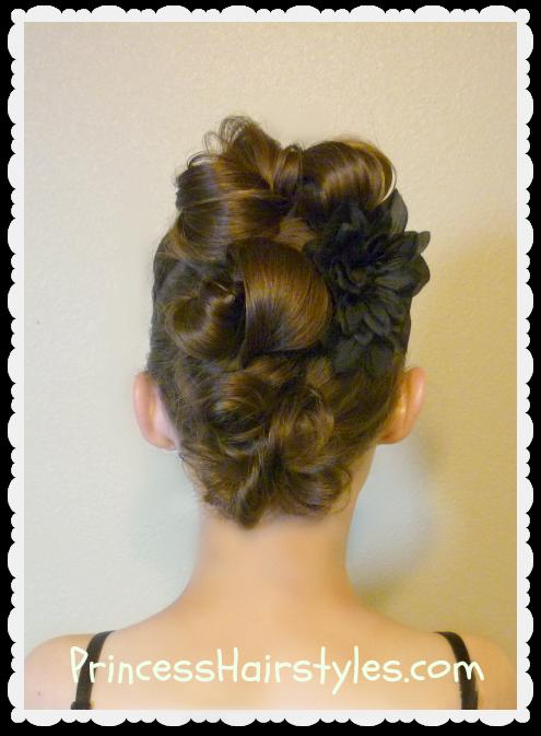 Messy bun faux hawk for long hair hairstyles for girls messy bun faux hawk hairstyle video tutorial urmus Gallery